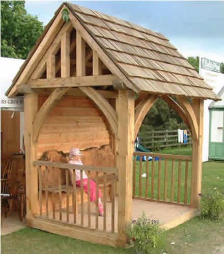 green oak gazebo